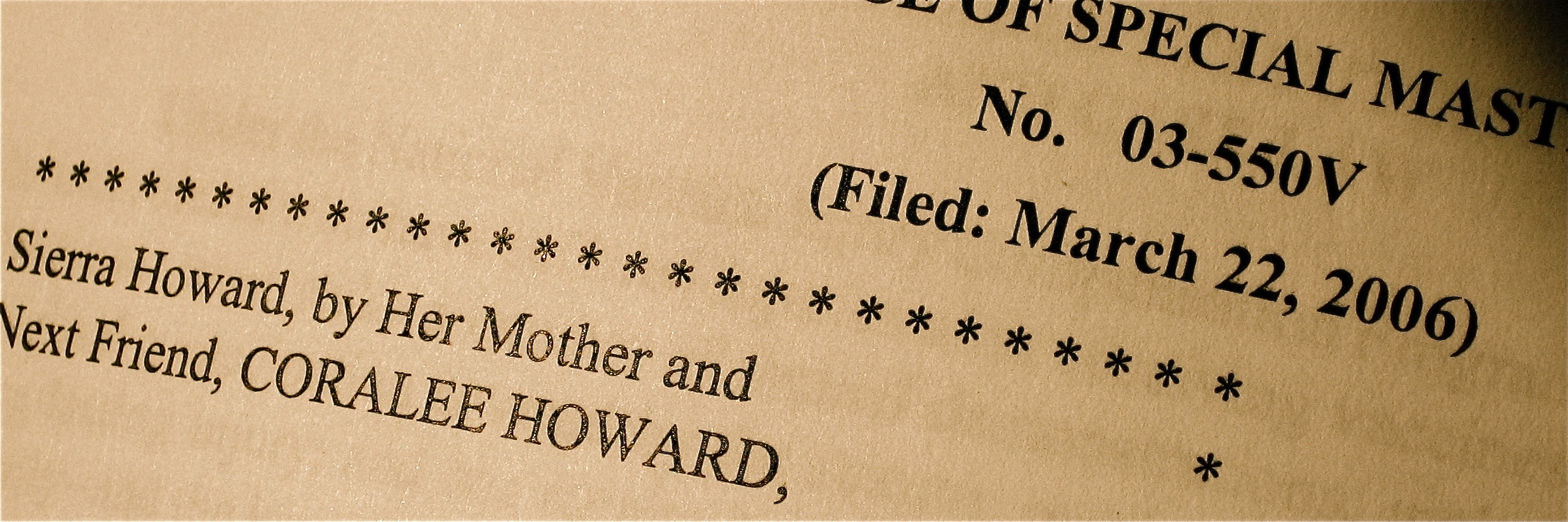 Medical Records and Familial Testimony in the Howard Case