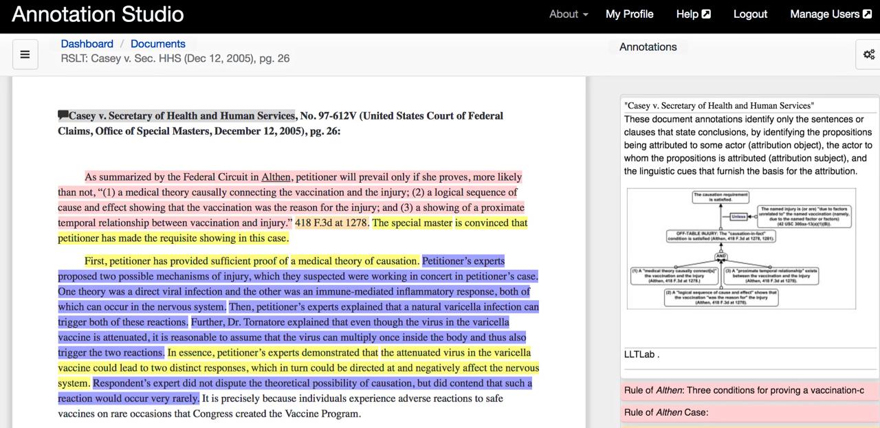 Screenshot of RSLT Vaccine Decision