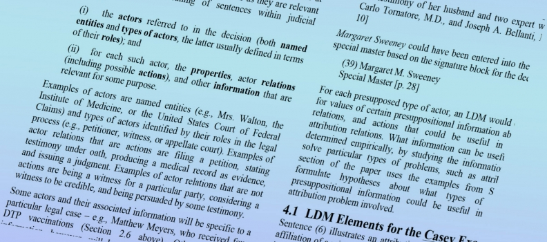 Attribution and Legal Discourse Models